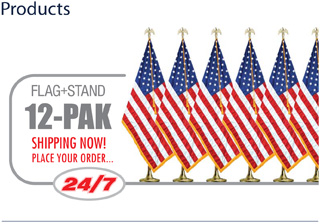 Flag & Stand 12Pack
