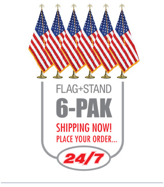 Flag & Stand 6Pack