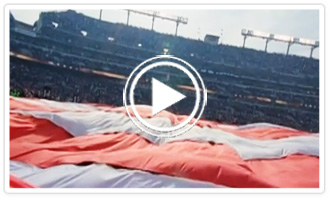 NFL Video Footage of Colonial's Huge Flags